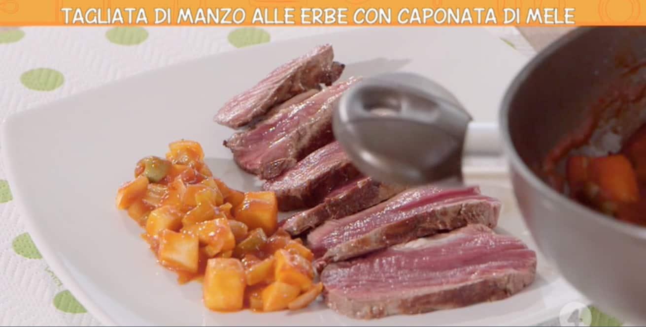 Ricette all'italiana, tagliata di manzo con le erbe di Anna Moroni