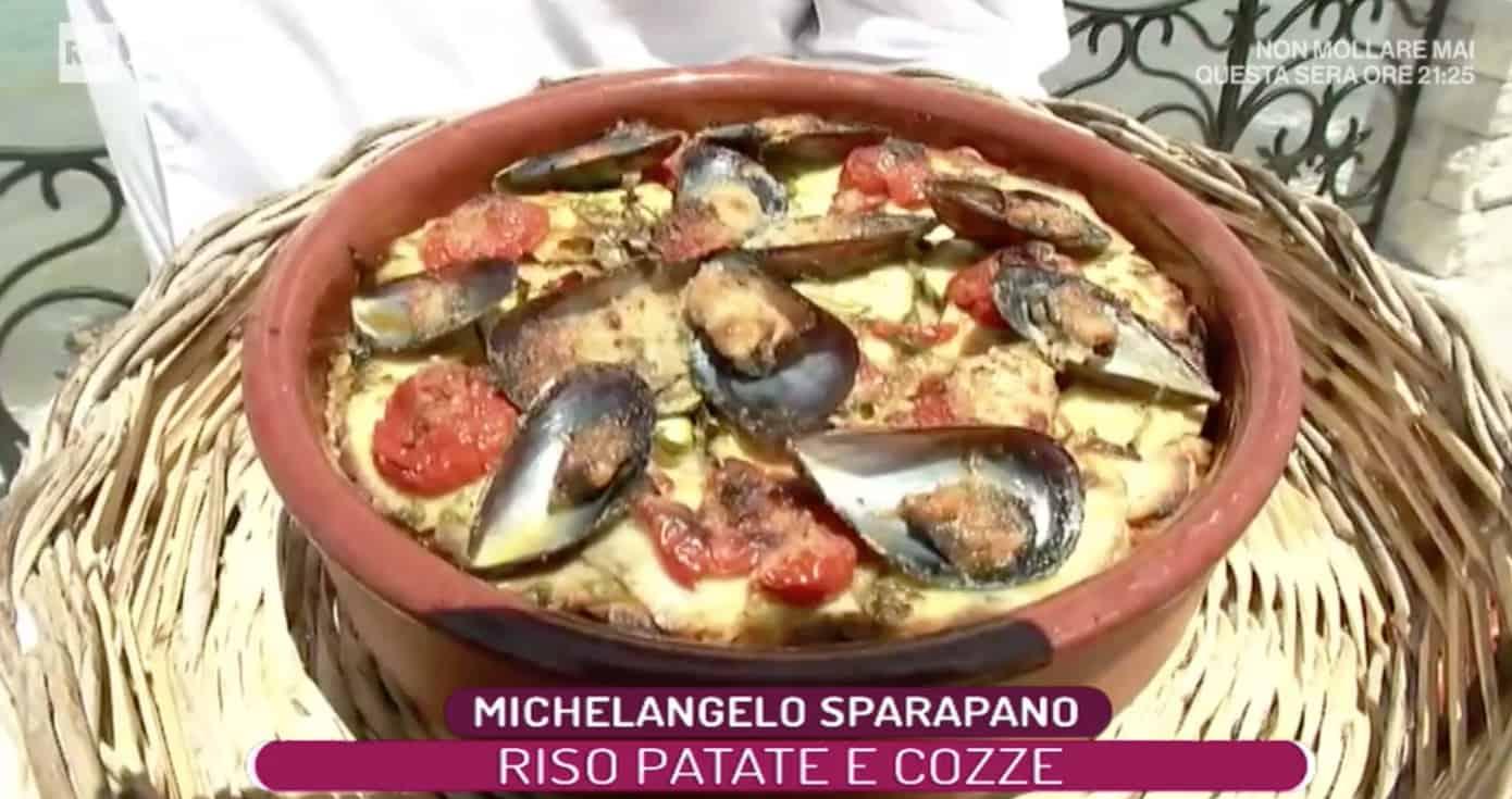 Riso patate e cozze La prova del cuoco, la ricetta di Michelangelo Sparapano