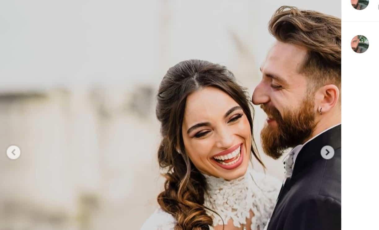 Lorella Boccia indossa di nuovo l'abito da sposa per il primo anniversario e la sorpresa a Niccolò Presta (Foto)