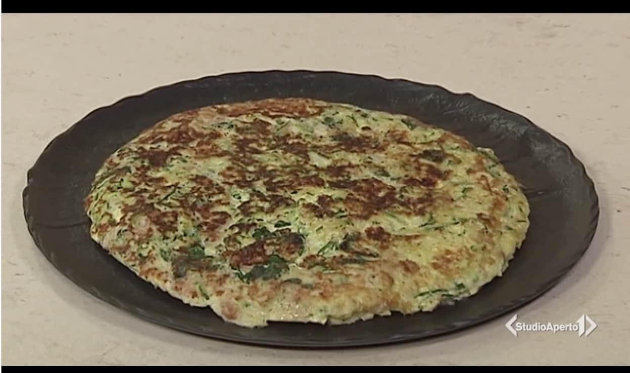 Frittata di zucchine, spinaci e cipollotto dalle ricette Cotto e Mangiato