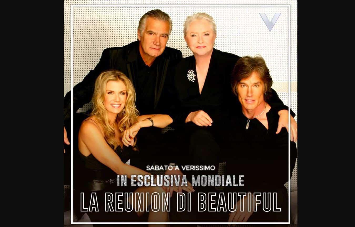 A Verissimo la reunion di alcuni attori di Beautiful per festeggiare i 30 anni della soap