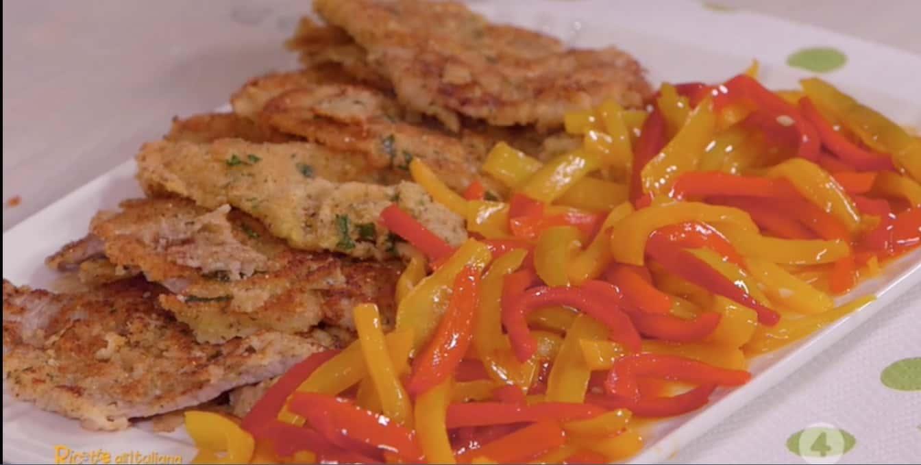 Le cotolette alla siciliana con peperoni di Anna Moroni, Ricette all'italiana di oggi