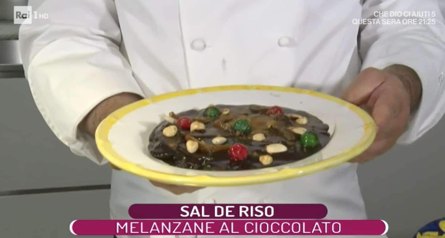 Sal De Riso stupisce con le melanzane al cioccolato, ricette La prova del cuoco