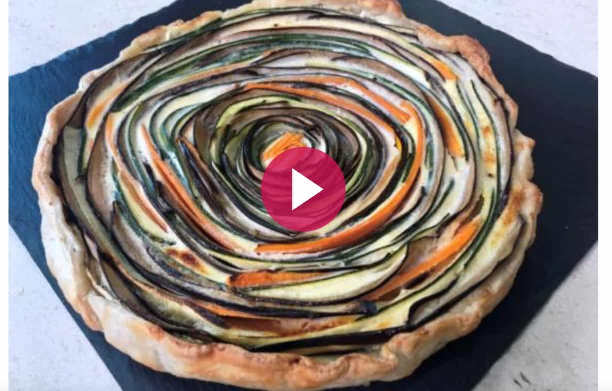 Torta salata di verdure a spirale, la ricetta Cotto e Mangiato