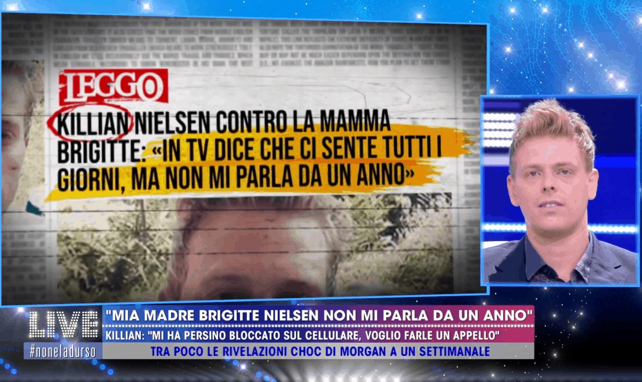 Live – Non è la d'Urso, Brigitte Nielsen non parla da un anno con il figlio Killian: l'appello del ragazzo