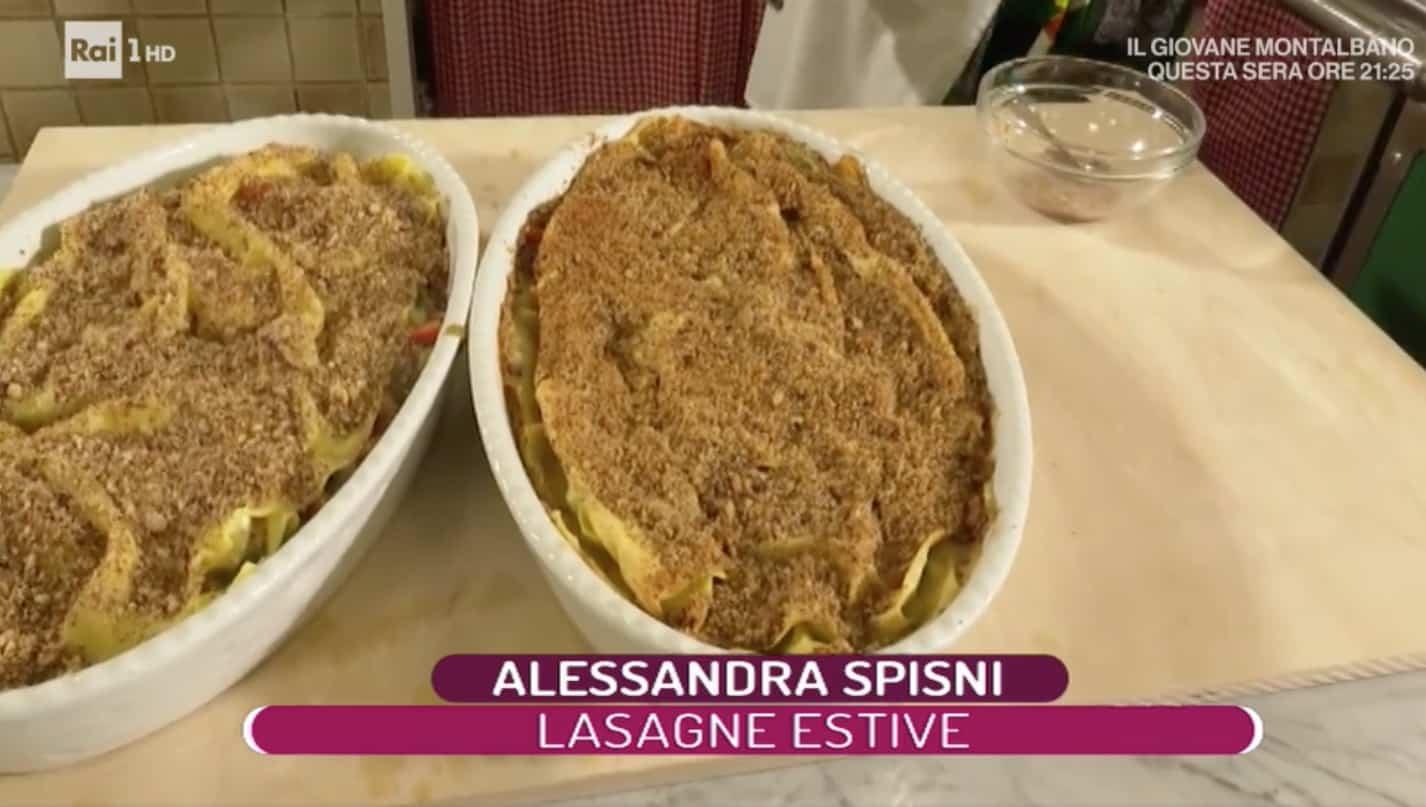Le lasagne estive di Alessandra Spisni, che ricetta a La prova del cuoco