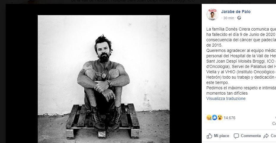 E' morto Pau Dones: lutto nel mondo della musica per l'addio al cantante degli Jarabe de Palo