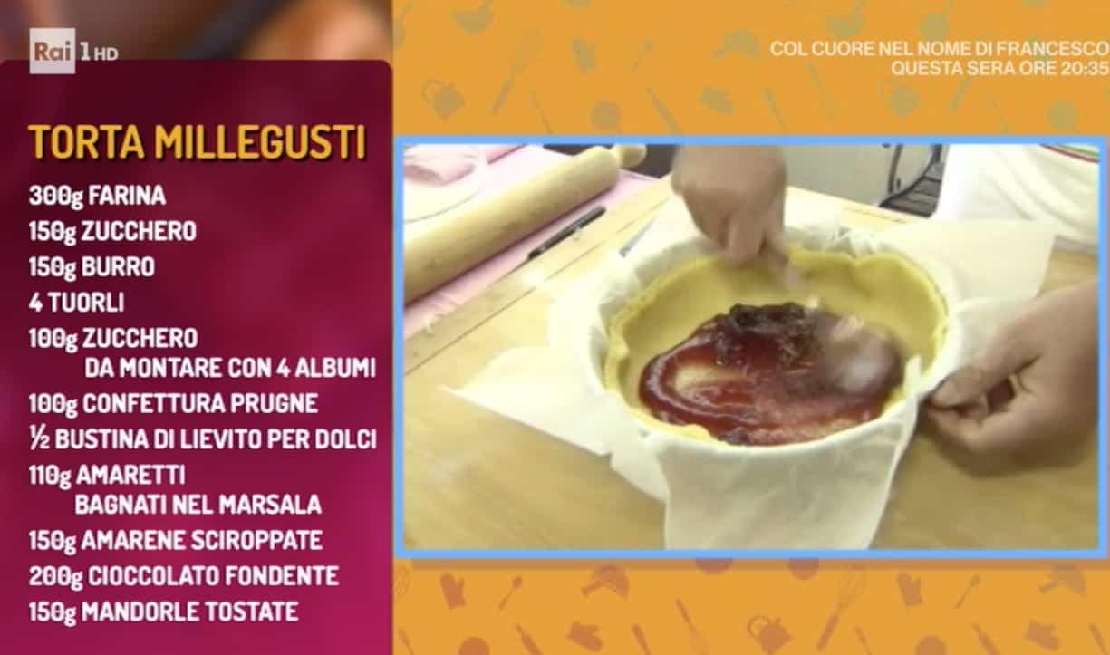 La ricetta della torta di Persegani, la torta millegusti per La prova del cuoco