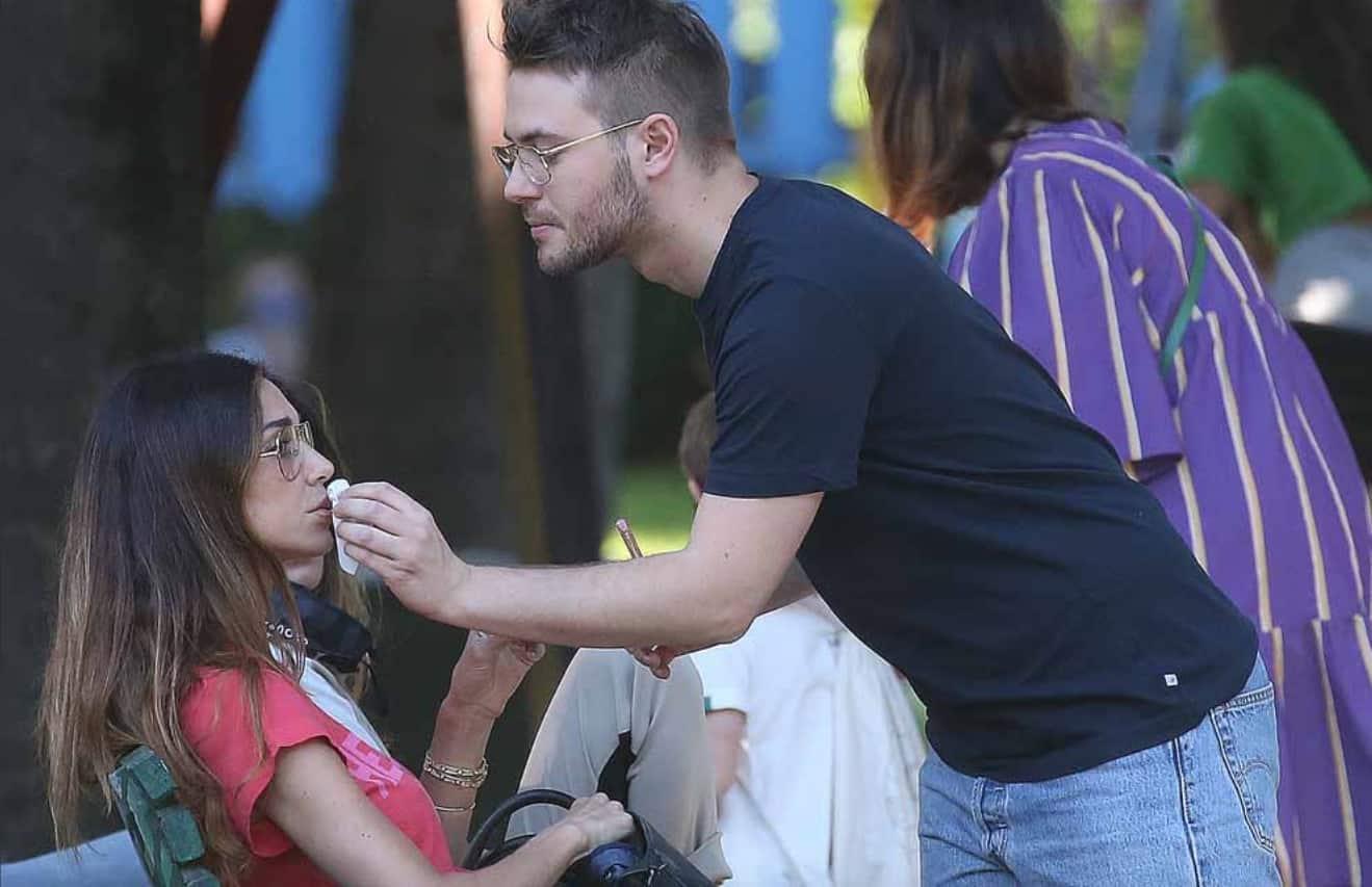 Belen al parco lancia un nuovo look mentre si vocifera il perché dell'addio di Stefano (Foto)