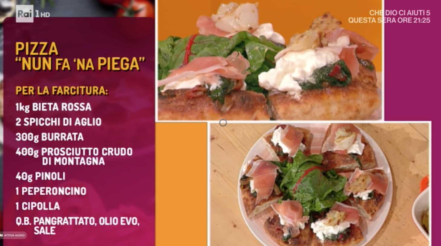 Marco Rufini e la golosa pizza Nun fa 'na piega, la ricetta di oggi