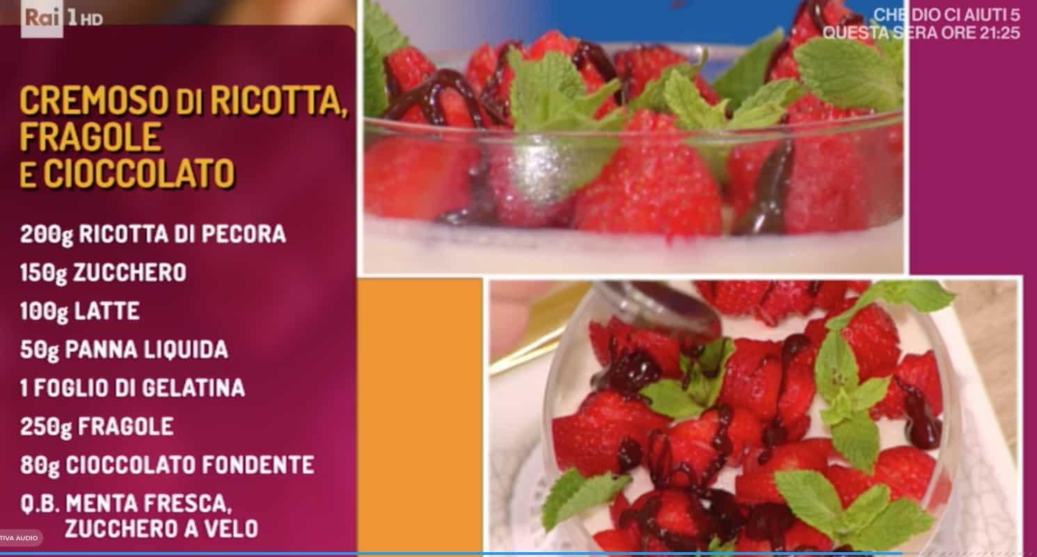 Ricette La prova del cuoco: cremoso di ricotta, fragole e cioccolato di Marco Bottega