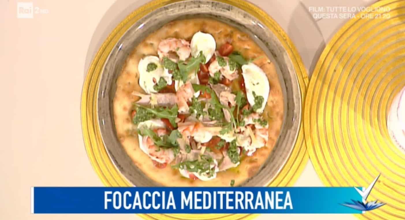La ricetta della focaccia mediterranea da Detto Fatto