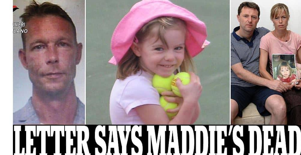 La piccola Maddie è morta: la lettera della polizia tedesca ai genitori