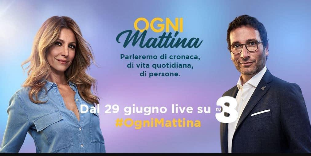Ogni Mattina pronto al debutto su Tv8 con Adriana Volpe, Alessio Viola e due inviate speciali