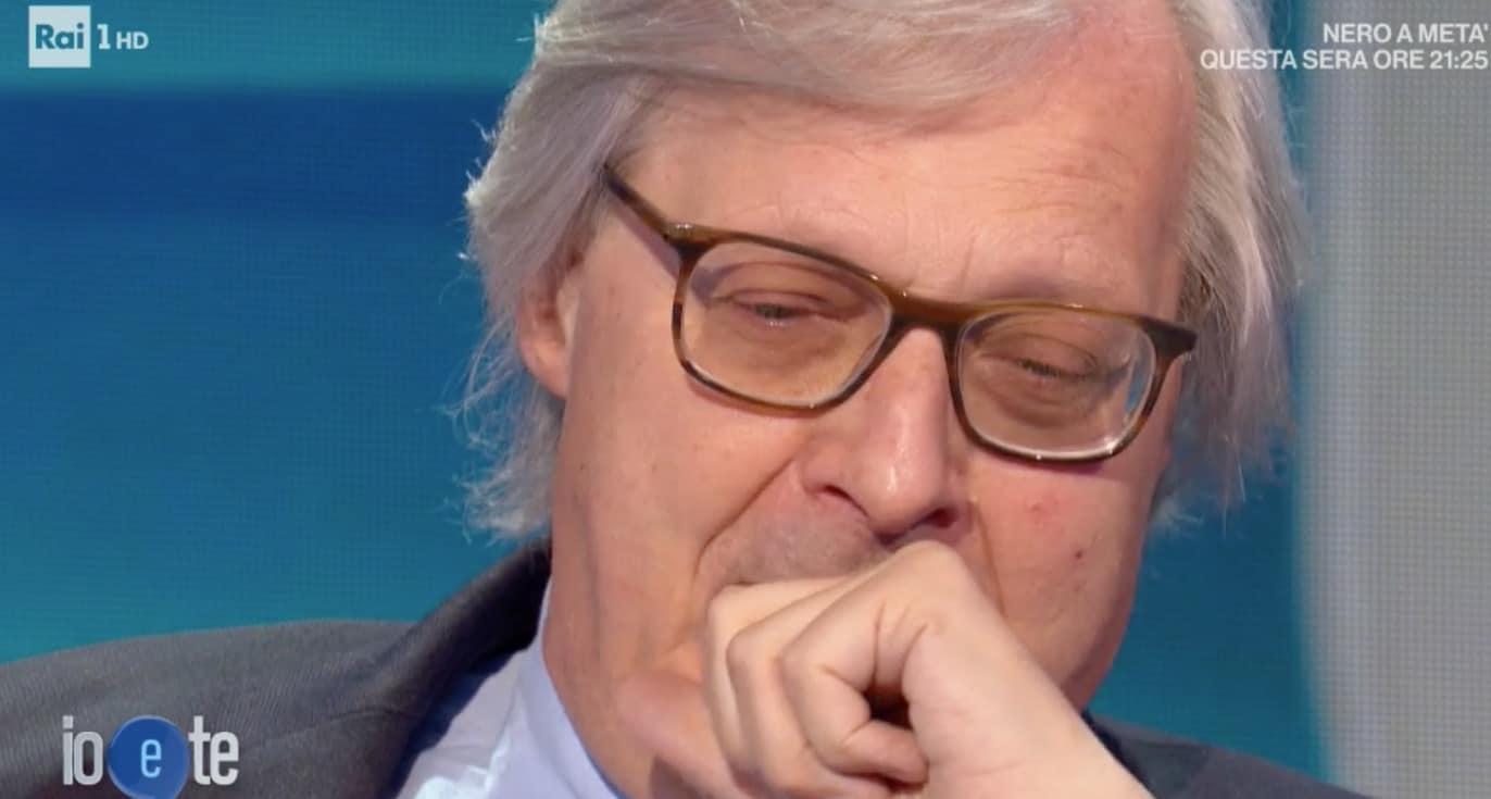 Vittorio Sgarbi a Io e Te non trattiene l'emozione per la morte di Giulio Giorello
