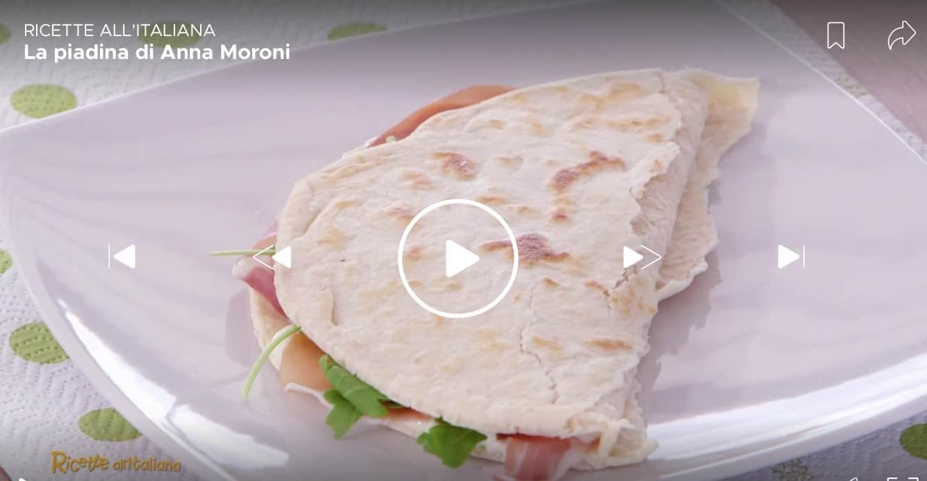 Ricette all'italiana, la ricetta della piadina di Anna Moroni