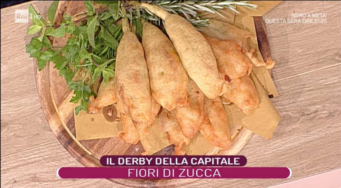 La prova del cuoco ricette: tris di fiori di zucca fritti di Marco Rufini