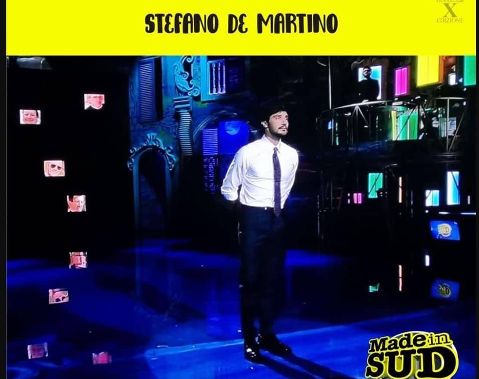 Stefano de Martino è in tv con Made in Sud ma questa volta Belen non lo guarda