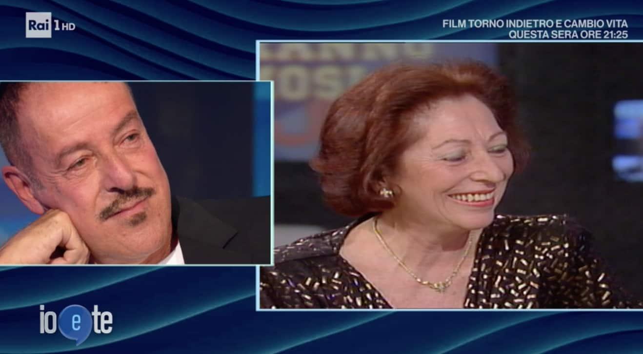 Le lacrime di Massimo Lopez a Io e Te per sua madre (Foto)