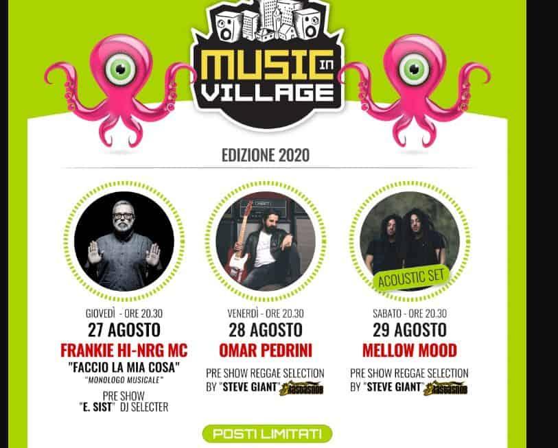 Torna il Music Village: i protagonisti  dell'edizione 2020