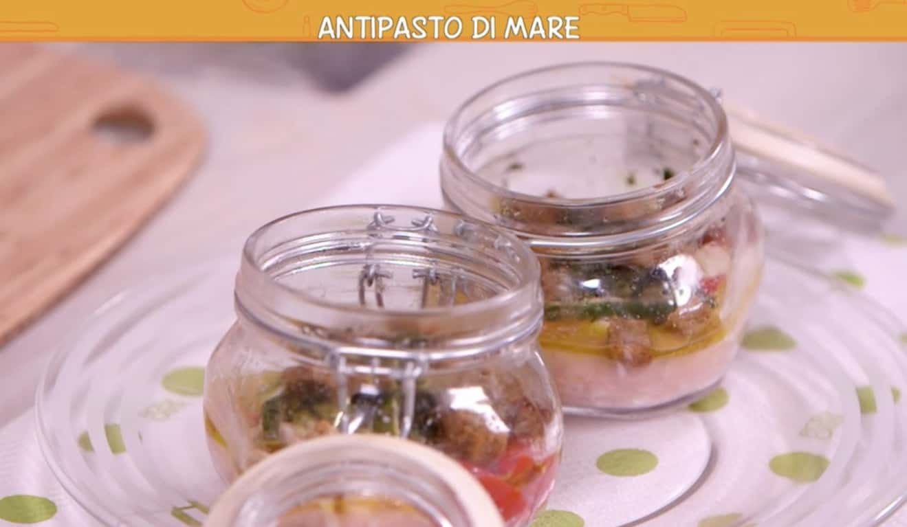 Ricetta Anna Moroni: antipasto di mare con fagiolini per Ricette all'italiana