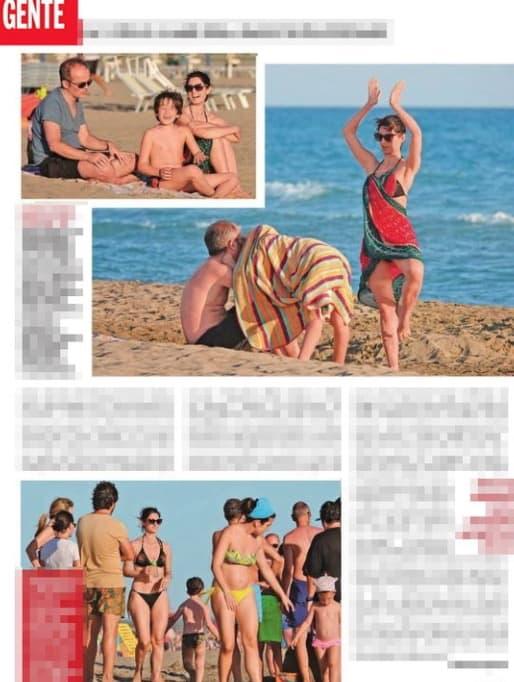 Virginia Raggi fa la sua prova costume in spiaggia con il marito (Foto)