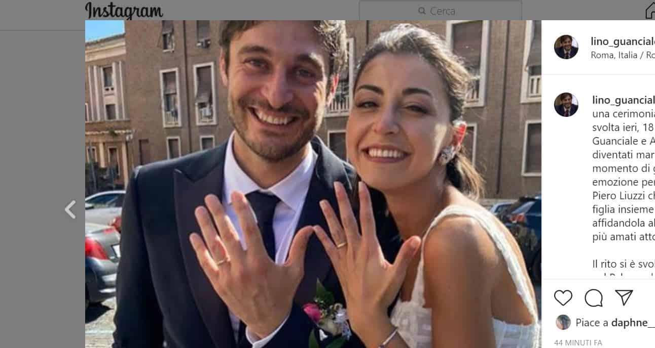 Lino Guanciale e Antonella sposi: matrimonio per pochi intimi a Roma