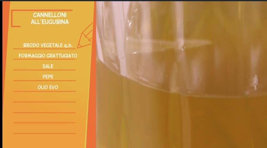Cannelloni all'eugubina di Anna Moroni per Ricette all'italiana, il primo piatto di oggi