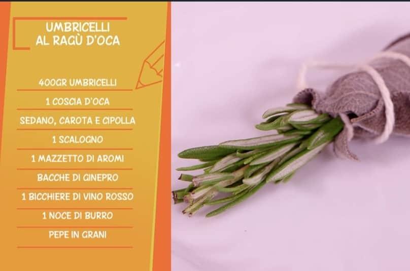 Ricette all'italiana: umbricelli al ragù d'oca fatti da Anna Moroni