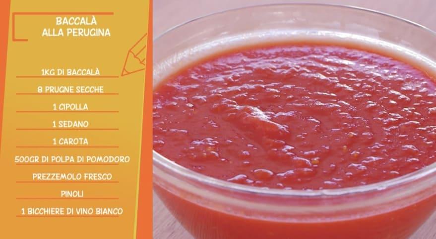 La ricetta del baccalà alla perugina di Anna Moroni