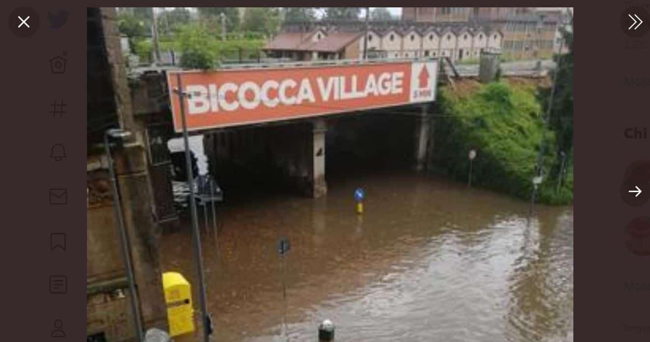 Maltempo a Milano: il Seveso esonda e la città si allaga