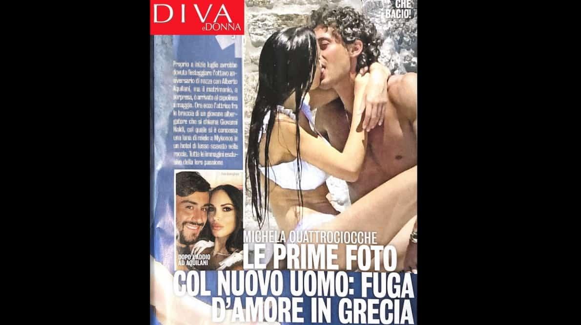 Michela Quattrociocche bellissima e innamorata a Mykonos tra le braccia di Giovanni Naldi (Foto)