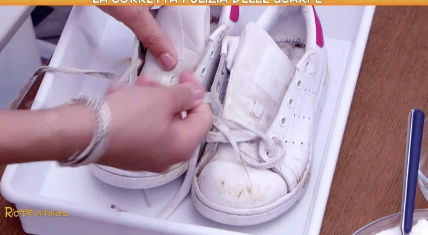 La corretta pulizia delle scarpe da ginnastica, da Ricette all'italiana i prodotti naturali per eliminare anche gli odori