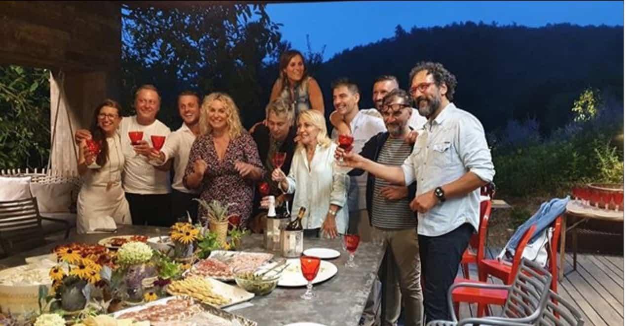Dopo la cena a casa di Antonella Clerici il commento di Anna Moroni e degli invitati (Foto)