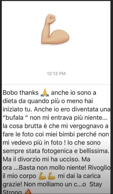 Bobo Vieri a dieta mostra la pasta con le zucchine e dà forza a chi deve dimagrire (Foto)