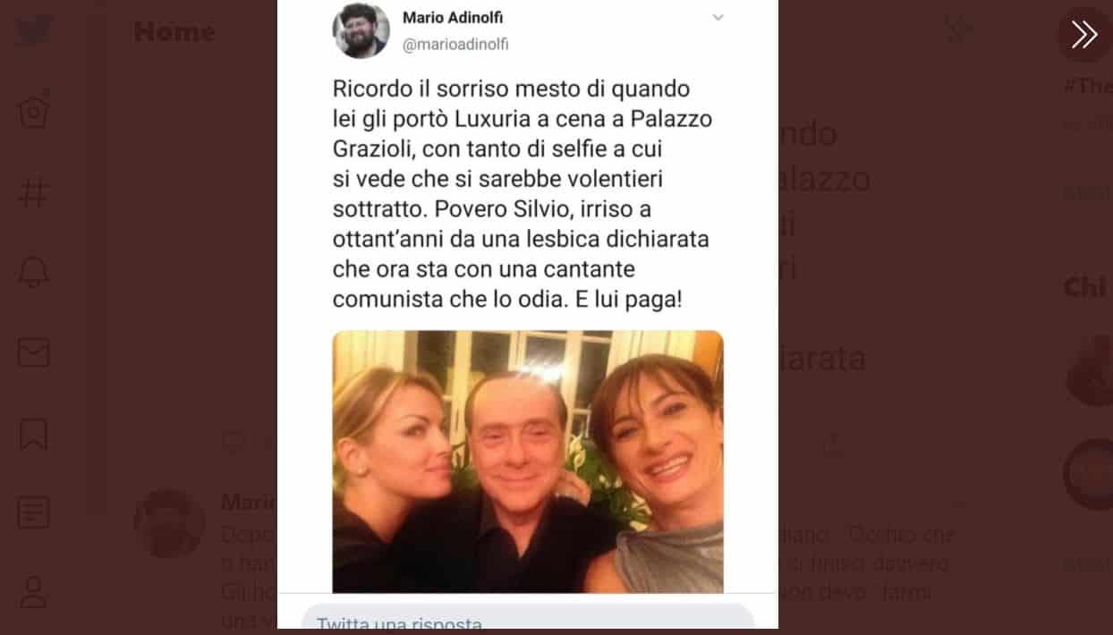 Vladimir Luxuria non ci sta e risponde ad Adinolfi dopo il tweet del quale non sentivamo davvero il bisogno