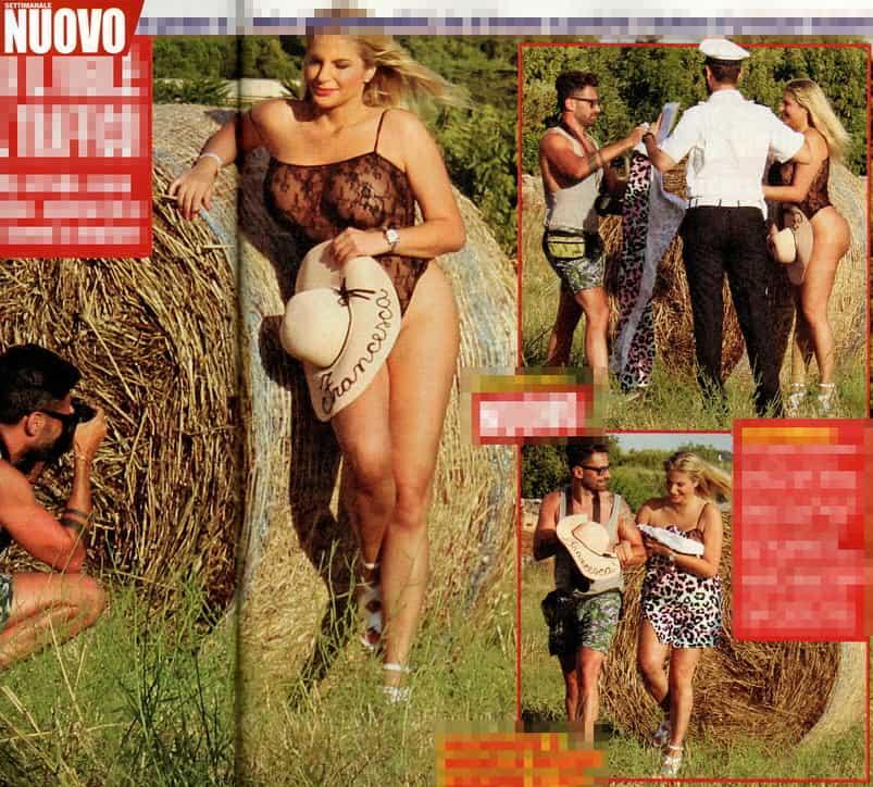 Francesca Cipriani in posa per foto sexy in strada: arriva un vigile a multarla (FOTO)