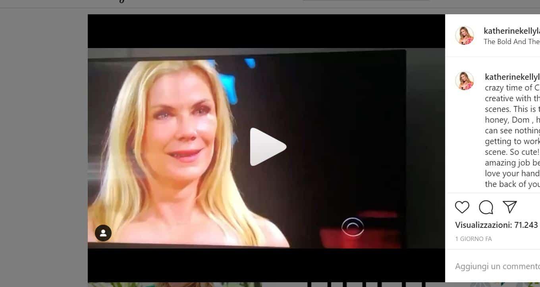 Il coronavirus cambia tutto e Ridge è costretto a baciare un manichino invece che Brooke (VIDEO)