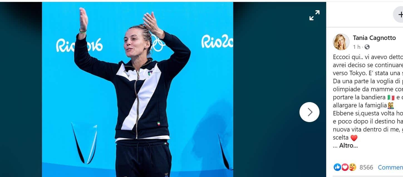 Per Tania Cagnotto addio ai tuffi: bebè in arrivo per la campionessa, niente Olimpiadi ma tanta felicità