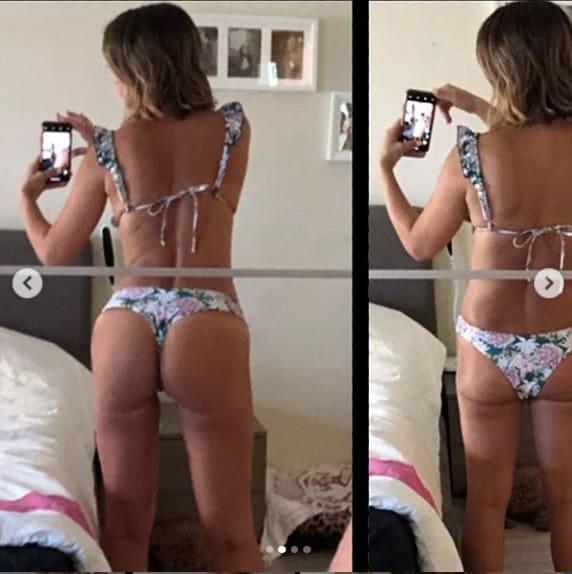 Ilenia Lazzarin mostra come tutte appaiono magre in bikini con le pose giuste (Foto)