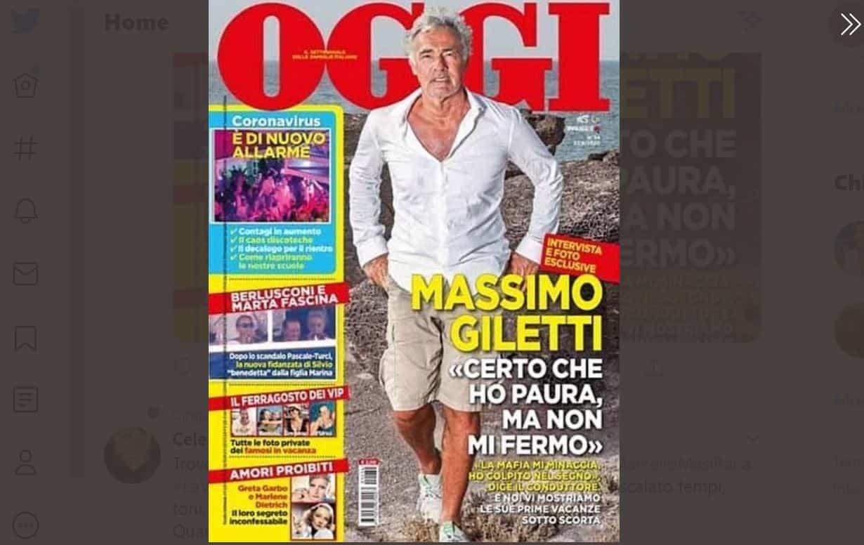 """Massimo Giletti sotto scorta: """"Certo che ho paura ma non mi fermo"""""""
