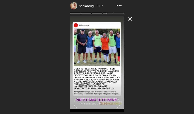 Paura per Paolo Bonolis dopo la partita a calcetto con Mihajlovic ma la Bruganelli rassicura tutti