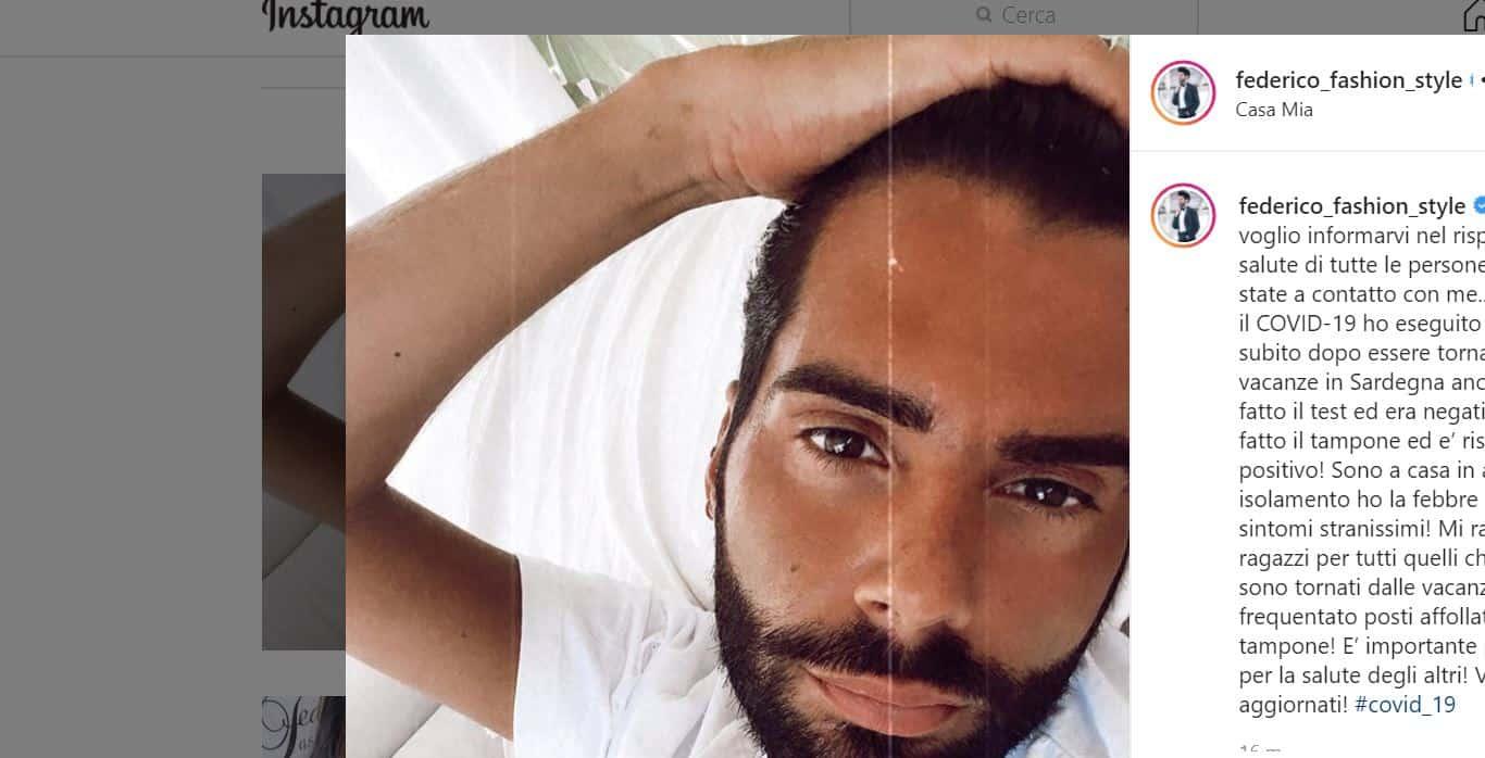 "Federico Fashion Style ha il coronavirus: ""Ho strani sintomi"". Clienti preoccupate"