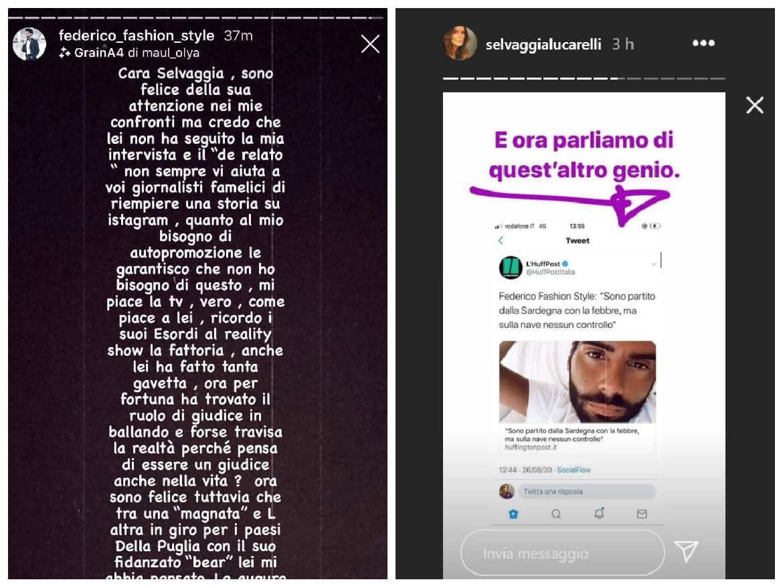 Selvaggia Lucarelli vs Federico Fashion Style: botta e risposta sui social