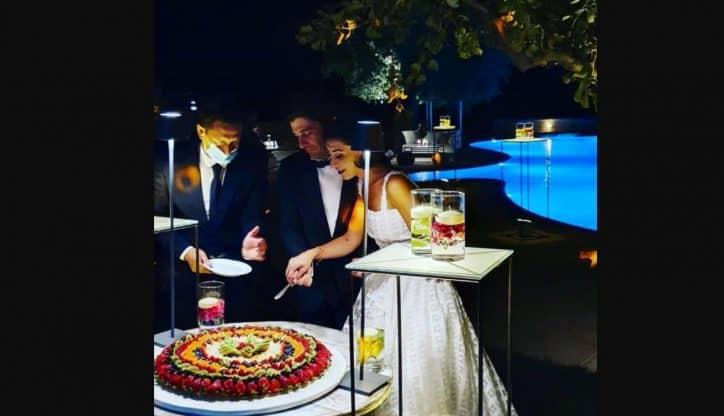La festa di matrimonio di Lino Guanciale e Antonella Liuzzi