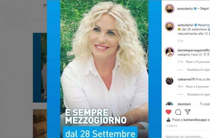 Antonella Clerici, È sempre mezzogiorno: presentato il cast ufficiale