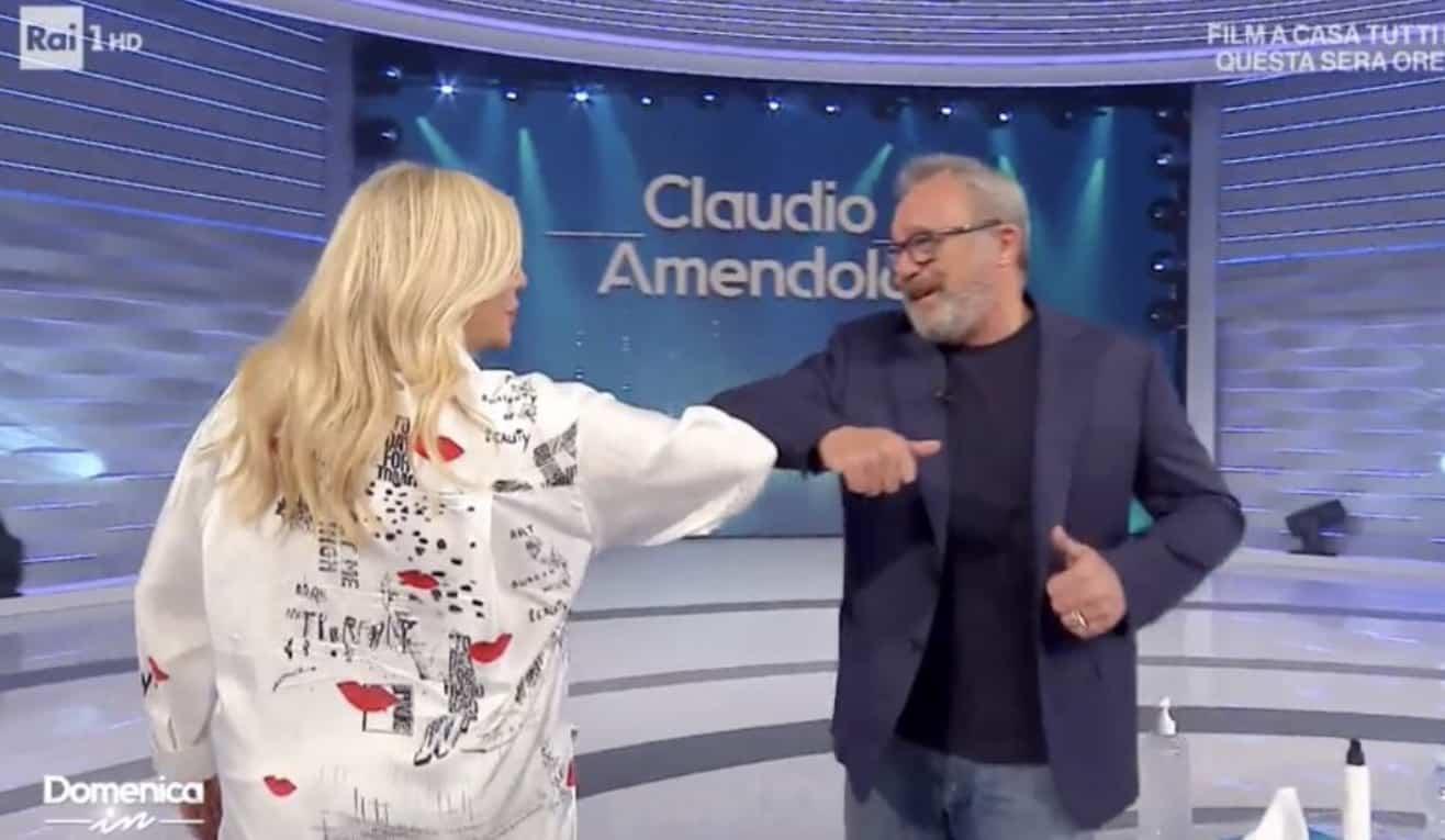 Claudio Amendola si gode i nipoti a cui permette tutto e a Domenica In conclude con un appello