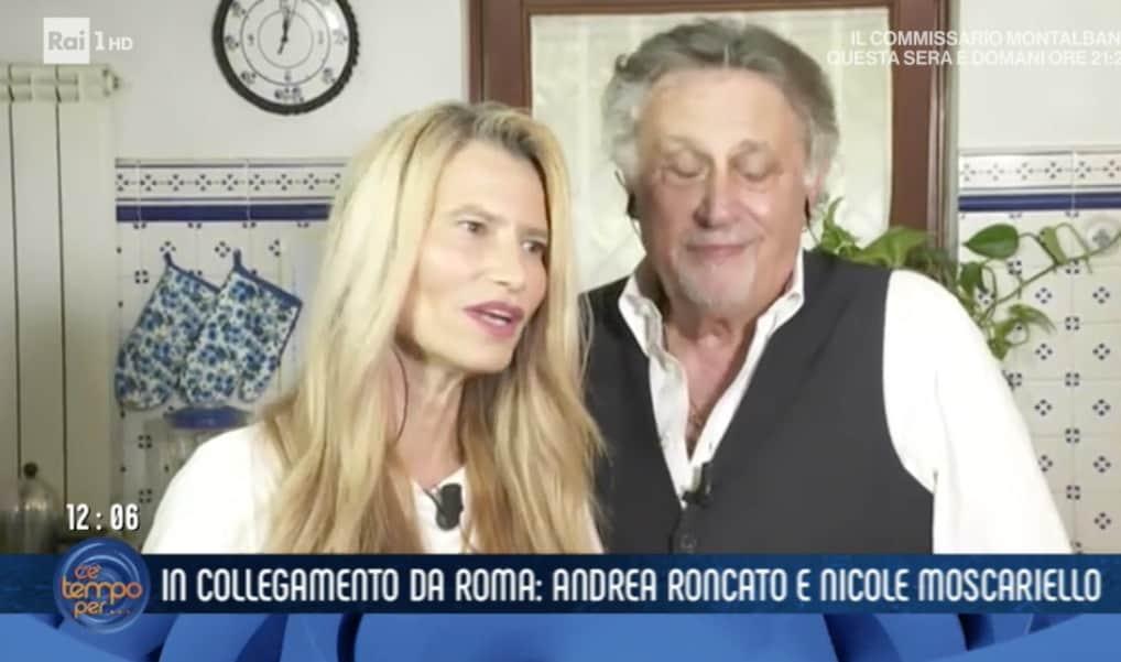 Andrea Roncato e la moglie nella loro cucina preparano un risotto per C'è tempo per (Foto)