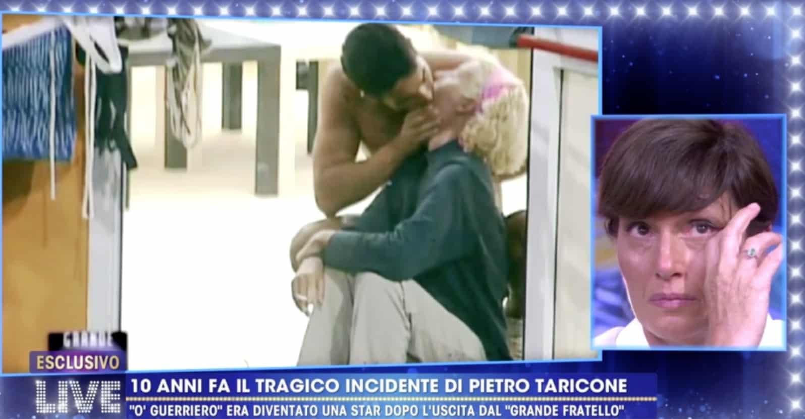 Cristina Plevani in lacrime per Pietro Taricone, il ricordo a Live ha commosso tutti (Foto)