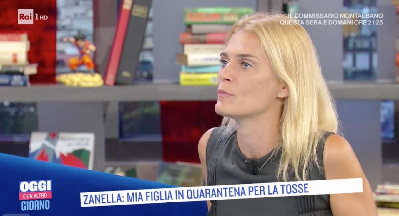 Claudia Zanella a Oggi è un altro giorno: il tampone alla figlia di 4 anni per tornare all'asilo ma non è la soluzione